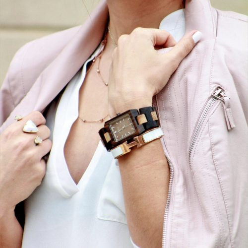 Jord Watch Reece Khaki Blush Leather