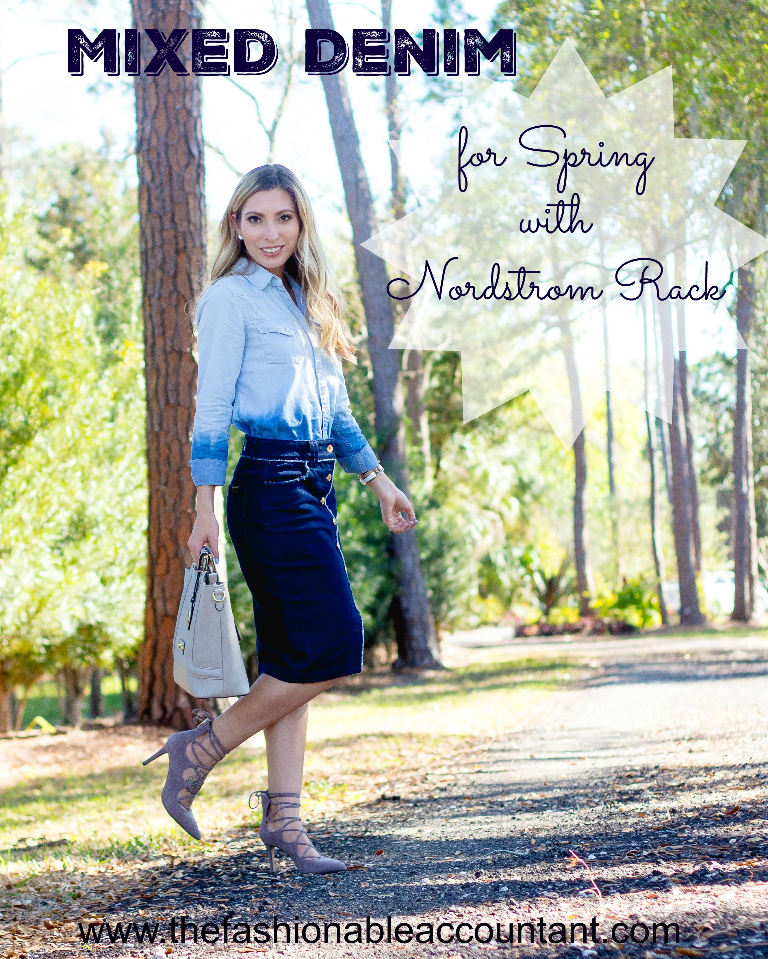 Mixed Denim for Spring with Nordstrom Rack