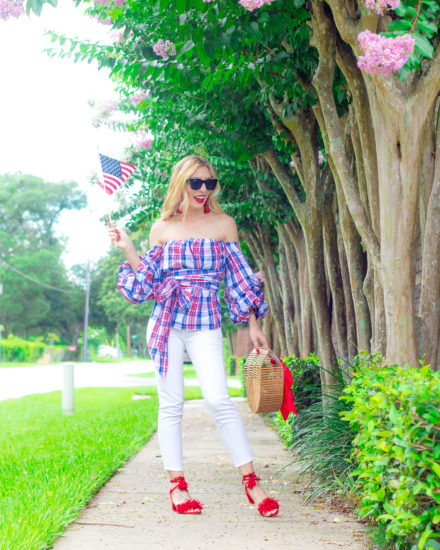 4TH OF JULY OOTD RED, WHITE & BLUE